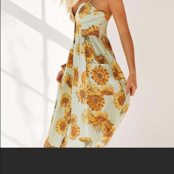 2a771d9da0 UO Cooperative Emilia Linen Button Down Midi Dress.  M_5a9390a500450faa0dfe6205